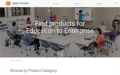 Screenshot of Products Page bretford.com - Products | Bretford - captured June 3, 2017