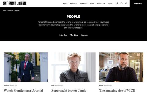 Screenshot of Team Page thegentlemansjournal.com - People | The Gentleman's Journal | Interviews and the latest inspiration - captured Nov. 2, 2017