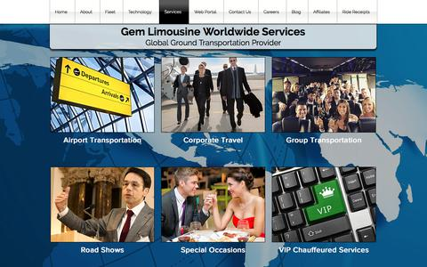 Screenshot of Services Page Testimonials Page gemlimo.com - Gem Limousine Worldwide   Worldwide Chauffeured Services - captured July 22, 2017