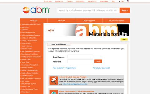 Screenshot of Login Page abmgood.com - Account Login | ABM Inc. - captured Nov. 14, 2019