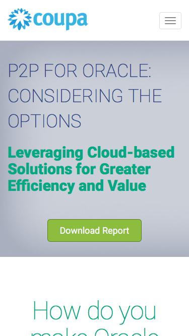 Coupa | Oracle Report