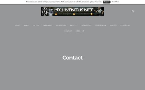 Screenshot of Contact Page myjuventus.net - Contact - captured June 28, 2018