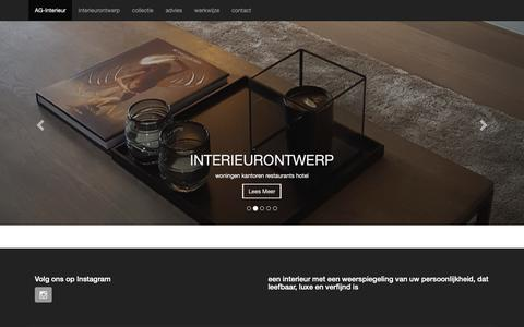 Screenshot of Home Page ag-interieur.nl - AG-Interieur - ag-interieur.nl - captured Oct. 3, 2018