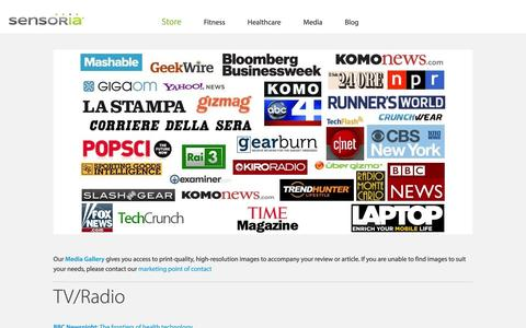Screenshot of Press Page heapsylon.com - Sensoria Inc.   –  Media - captured Oct. 31, 2014