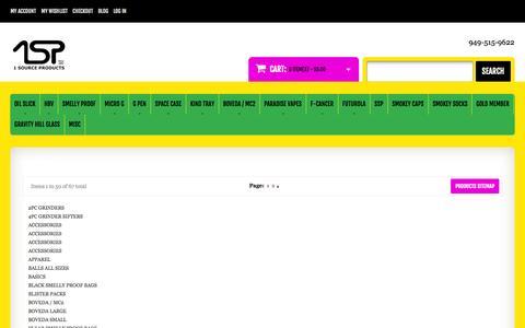 Screenshot of Site Map Page 1sourceprod.com - Site Map - captured Nov. 3, 2014