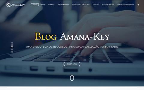Screenshot of Home Page amana-key.com.br - Amana-Key: Inovações Radicais em Gestão Estratégia Liderança - captured Nov. 6, 2018