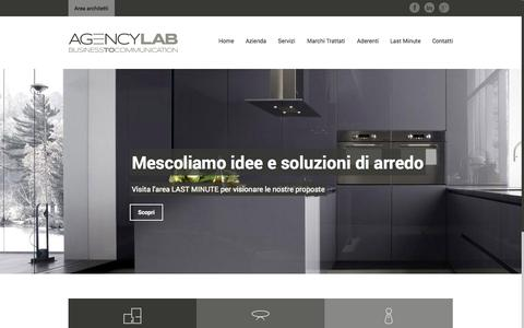 Screenshot of Home Page agencylab.it - Agency Lab | Home - captured Sept. 30, 2014