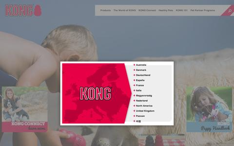 Screenshot of Home Page kongcompany.com - The Best Durable Dog and Cat Toys & Treats from the KONG Company - captured Sept. 23, 2014