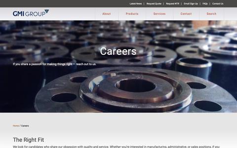 Screenshot of Jobs Page gmigroup.com - Careers - GMI Group - captured Sept. 29, 2018