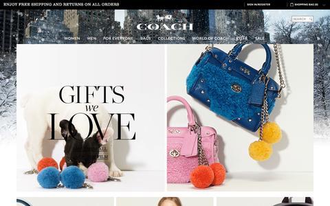 Screenshot of Home Page coach.com - COACH Official Site | New York Luxury Brand Est 1941 - captured Nov. 6, 2015