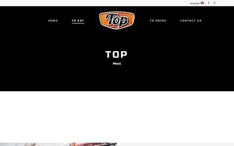 Screenshot of Menu Page cafebartop.com - To Eat – Bar Top – Calella - captured May 30, 2019