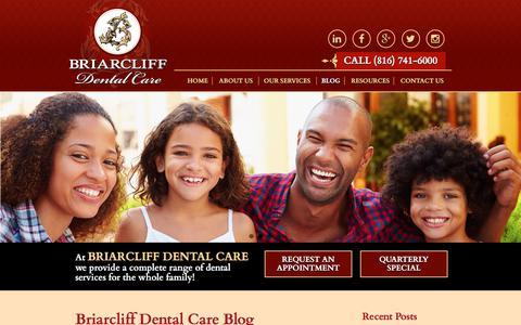 Screenshot of Blog briarcliffdentalcare.com - Blog - Briarcliff Dental Care - captured Aug. 3, 2018