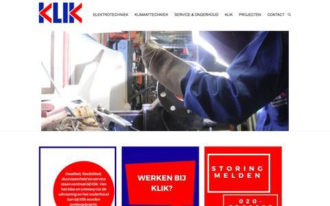 Screenshot of Home Page klikbv.nl - Klik Elektro- en Klimaattechniek - captured Oct. 16, 2017