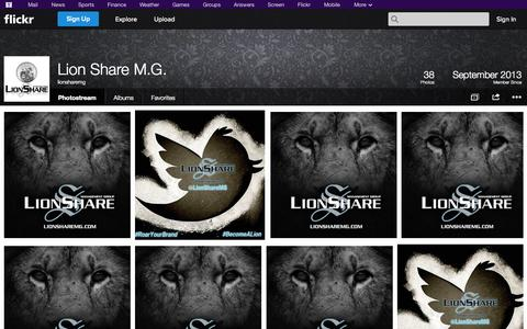 Screenshot of Flickr Page flickr.com - Flickr: lionsharemg's Photostream - captured Oct. 22, 2014