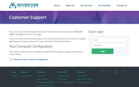 Screenshot of Support Page net-craft.com - Сustomer Support | Net-Craft.com - captured Oct. 20, 2017