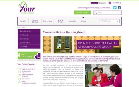 Screenshot of Jobs Page yourhousinggroup.co.uk - Your Housing Group careers | Your Housing Group - captured Aug. 11, 2016
