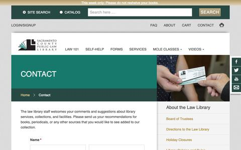 Screenshot of Contact Page saclaw.org - Contact   saclaw.org - captured Oct. 1, 2018