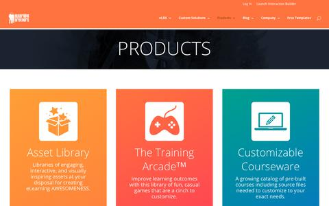 Screenshot of Products Page elearningbrothers.com - Products Overview | eLearning Brothers - captured March 9, 2018