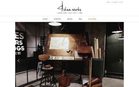 Screenshot of Home Page 4deaworks.com - 베지터블 가죽 가방 전문 브랜드 4deaworks 입니다. - captured Oct. 16, 2015