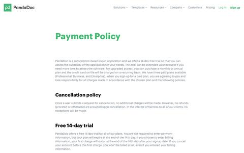 Payment Policy - PandaDoc