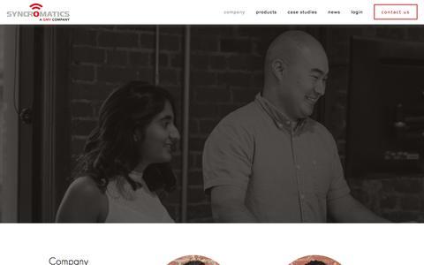 Screenshot of Team Page syncromatics.com - Leadership — Syncromatics Corporation - captured Feb. 2, 2016