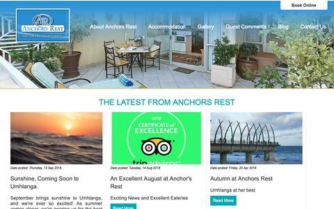 Screenshot of Blog anchorsrest.co.za - Anchors Rest | Blog - captured Oct. 3, 2018