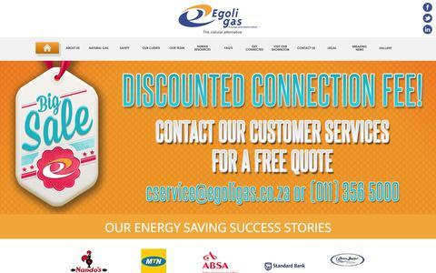 Screenshot of Home Page egoligas.co.za - HOME - captured Oct. 2, 2014
