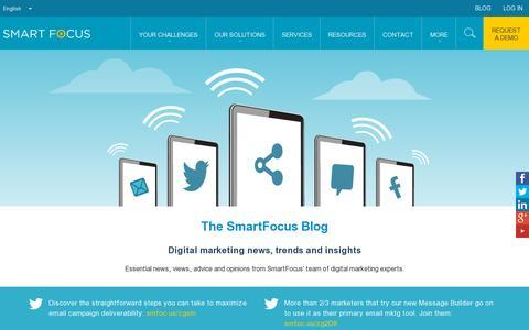 Screenshot of Blog smartfocus.com - Blog   SmartFocus - captured July 20, 2014