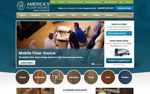 Screenshot of Home Page americasfloorsource.com - Flooring Columbus Ohio | Hardwood Flooring Columbus Ohio - captured Sept. 19, 2014