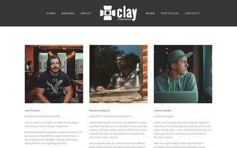 Screenshot of Team Page claymediagroup.com - Team — Clay Media Group - captured July 19, 2018