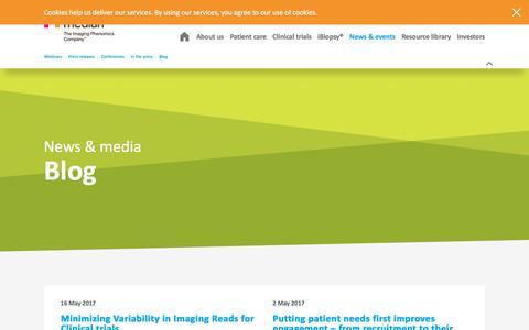 Screenshot of Blog mediantechnologies.com - Blog - captured May 27, 2017