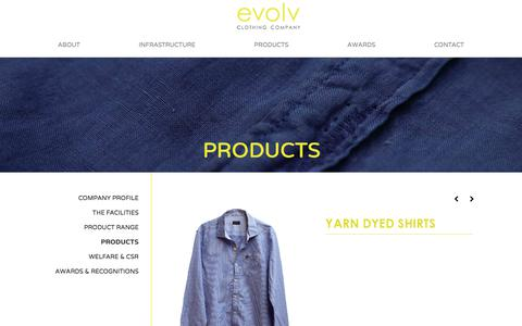 Screenshot of Products Page evolvclothing.com - Evolv Clothing - captured Sept. 3, 2017