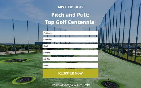 Screenshot of Landing Page unitrends.com - Top Golf Centennial - captured Sept. 18, 2018