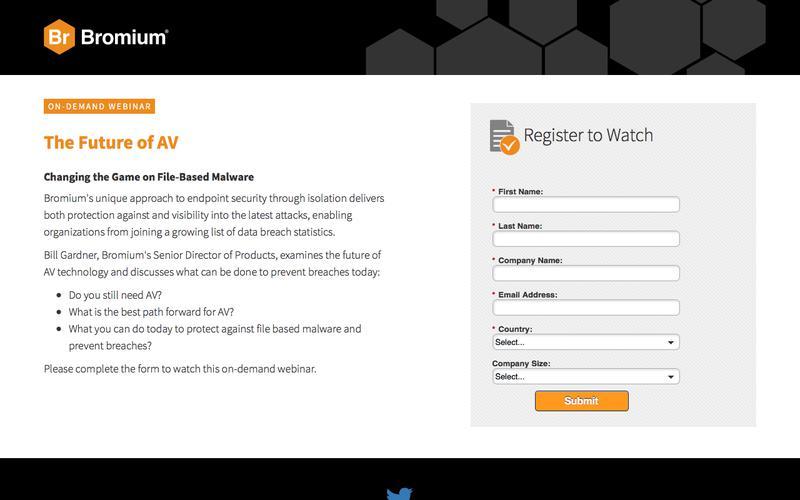 Bromium: Webinar On-Demand - The Future of AV