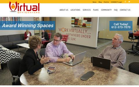 Screenshot of Home Page virtualofficenters.com - VirtualOffiCenters - Work Virtually anywhere under the sun – Work Awesome - captured June 17, 2015