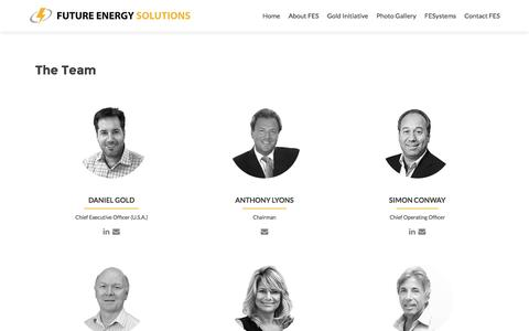 Screenshot of Team Page feslighting.com - The Team - Future Energy Solutions - captured Feb. 9, 2016