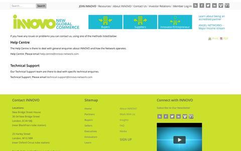 Screenshot of Support Page innovo-network.com - INNOVO Support | INNOVO - captured Oct. 3, 2014