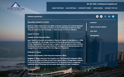 Screenshot of Team Page spectrumcapitalre.com - Shaping Innovation | Spectrum Capital - captured Nov. 5, 2014