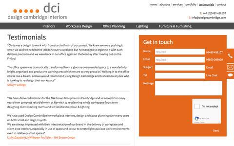 Screenshot of Testimonials Page designcambridge.com - Testimonials   Design Cambridge Interiors - captured Oct. 12, 2017