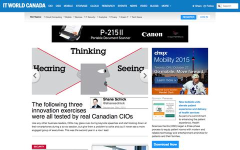 Screenshot of Home Page itworldcanada.com - Tech News, Product Reviews & Video Interviews by IT World Canada - captured Oct. 2, 2015