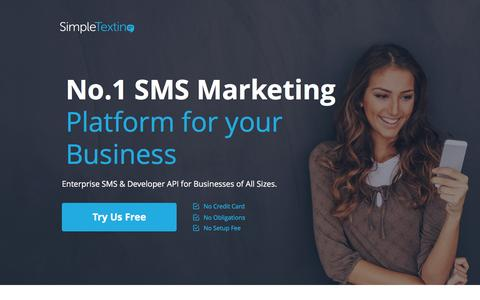 Screenshot of Landing Page simpletexting.com - SMS Marketing | Text Message Marketing | Free Instant Setup - captured Oct. 4, 2016