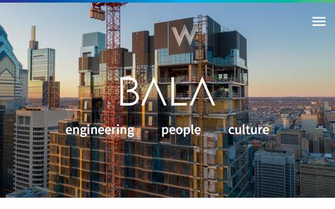 Screenshot of Home Page bala.com - Home | Bala - captured Sept. 13, 2019
