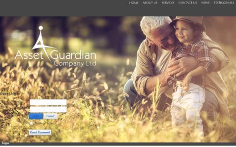 Screenshot of Login Page assetguardiancompany.co.uk - User Log In - captured Feb. 6, 2016