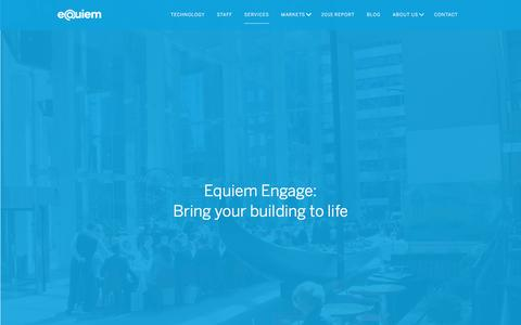 Screenshot of Services Page equiem.com.au - Equiem Engage - Tenant engagement strategy and services - captured July 15, 2016