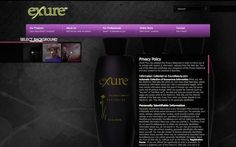 Screenshot of Privacy Page exurebeauty.com - Exure ~ Privacy Policy | exurebeauty.com - captured Oct. 3, 2014
