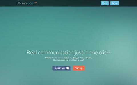 Screenshot of Home Page blabroom.com - Blabroom - captured Sept. 13, 2014