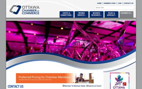 Screenshot of Contact Page ottawachamber.ca - Contact Us - Ottawa Chamber of Commerce, ON - captured Dec. 6, 2016