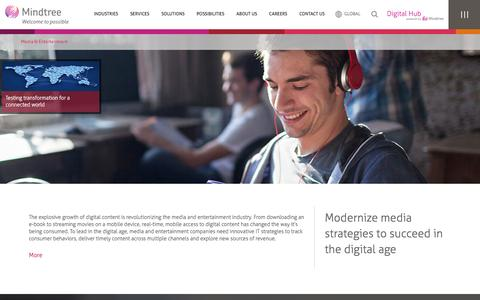 Media & Entertainment Technology Consulting | Mindtree