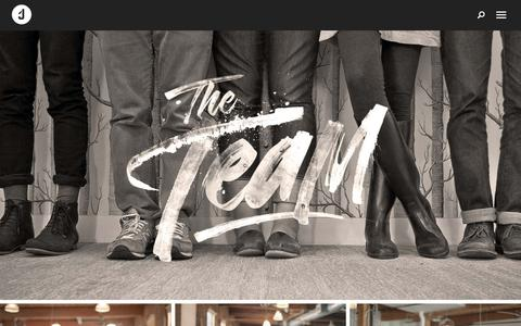 Screenshot of Team Page jacknifedesign.com - The Team — Jacknife - captured Sept. 17, 2017