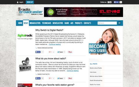 Screenshot of Blog Press Page radiobroadcaster.org - Radio News: news about radio, news radio - captured Oct. 26, 2014